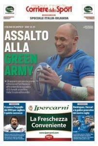Speciale del Corriere dello Sport su Italia-Irlanda di Rugby